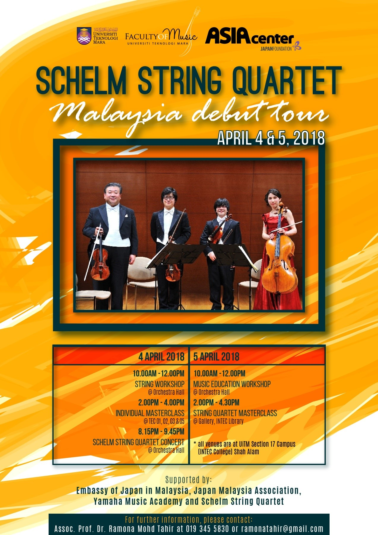 SCHELM STRING QUARTET (JAPAN)  MALAYSIA DEBUT TOUR