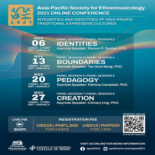 Asia-Pacific Society for Ethnomusicology 2021 Online Conference